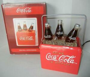 Coca Cola Light Up 3 Bottle Ice Cooler Water Fountain - Corded Collectible Coke