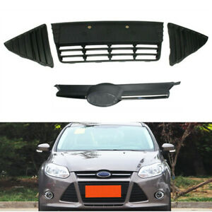 Fit For Ford Focus 2012 2013 2014 Front Upper Lower Grille Panel Bezel Set Of 4