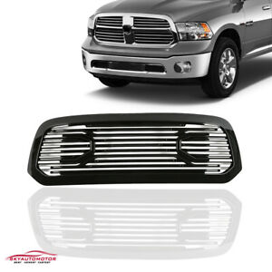 Fits 2013 2018 Dodge Ram1500 Front Upper Grille Grill Gloss Black Big Horn Style