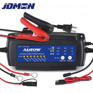 Battery Charger Maintainer 5a 12v Trickle Charger For Boat Motorcycle Lawn Mower