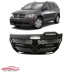 Fits 2009 2016 Dodge Journey Front Upper Grille With Gloss Black Trim Honeycomb