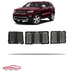 Fits 2014 2015 2016 Jeep Grand Cherokee Front Grille Inserts Honeycomb Black