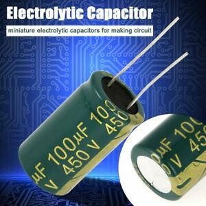 1set 10pcsgreen Electrolytic Capacitor Radial Capacitor Assorted Kit 450v