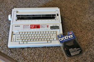 Brother Ax 350 Electronic Typewriter Works Great Extra Ribbon