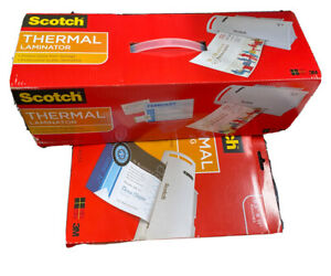 Scotch Thermal Laminator Includes 8 5x 11 Scotch Laminating 65 Pouches