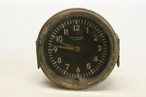 Original 1920 S 1930 S Waltham 8 Day Wind Up Clock Dash Part Assembly Military