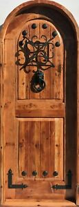 Rustic Spanish Reclaimed Lumber Arched Top Door Solid Wood Storybook Castle