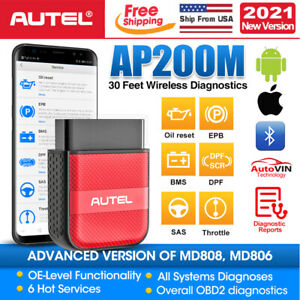 Autel Bluetooth Obd2 Eobd Can Scanner Abs Srs Airbag Reset Diagnostic Scan Tool