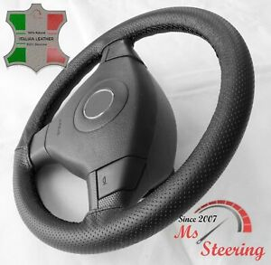 For Acura Integra 86 88 Black Perf Leather Steering Wheel Cover Black Stit