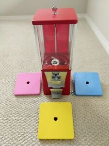 Eagle Red Bulk Vending Machine Gumball Candy Toy Renovated Tested 1 Wheel 1 Lid