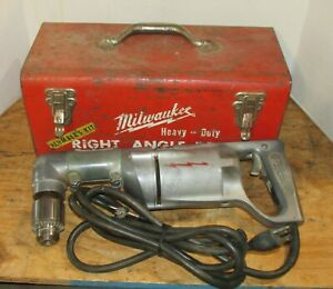 Vintage Milwaukee Heavy Duty Right Angle Drill Model 1100 1 2870 1 Adapter
