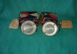 Nos Backup Lights 6 Volt Vintage Reverse Lamps Original Accessory Chevy Ford