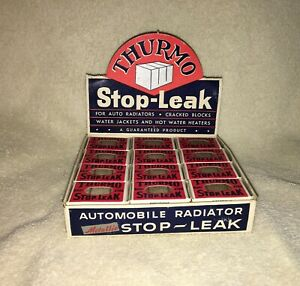 Nos Thurmo Radiator Leak Counter Display Vintage Gas Station Man Cave Accessory