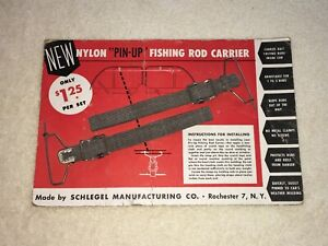 Nos Roof Headliner Fishing Pole Holder Vintage Interior Accessory Rod Carrier