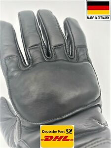 Real Leather Police Tactical Weighted Steel Shot Sap Gloves Knockout