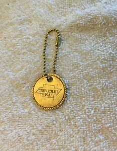 Vintage 1949 Chevrolet Tool Check Out Brass Fob 49 Chevy Gm Employee Id Tag