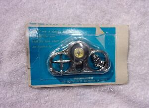 Nos Compass Visor Clip Vintage Praying Hands Sun Shield Accessory Chevy Ford