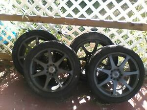 Motegi Mr7 Gunmetal Grey 17x7 5x100 5x4 5 Universal 5 Lug Set Of 4 Rims