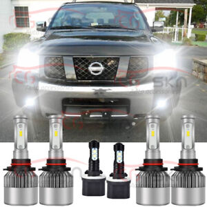 For Nissan Armada 05 10 Titan 04 15 6x Led Headlight H l Fog Light Bulbs Kit