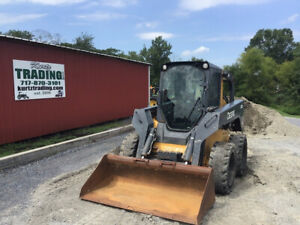 2012 John Deere 332d Skid Steer Loader W Cab Cheap