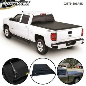 Soft 8ft Bed Four Fold Tonneau Cover For 2007 2013 Chevy Silverado Gmc Sierra