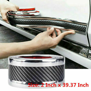 Parts Accessories Carbon Fiber Rubber Styling Stickers Car Door Sill Protector