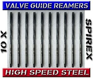 10x Valve Guide Hss Reamer Kit Cummins volvo cat dodge chevy ford 310 To 335