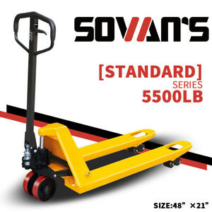Sovans Manual Pallet Jack Hand Truck 5500lbs Capacity 48 lx21 w Fork