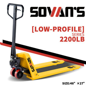 Sovans Manual Pallet Jack Hand Truck 2200lbs Capacity 48 lx27 w Fork
