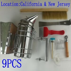 Beekeeping Equipment Tool Bee Brush Catcher Fork Cage Queen Hive Tools Smoker