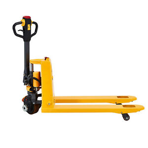 Sovans 48 X27 Li ion Powered Electric Pallet Jack Hand Truck 3300lbs Capacity
