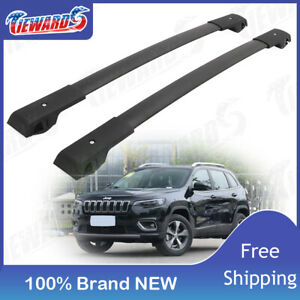 Cross Bars Fit For 2014 2019 Jeep Cherokee Roof Rack Pair Aluminum New