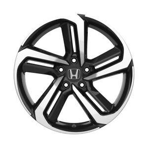 4 652 18 Inch Black Machined Rims Fits Honda Civic Sedan 2012 2020
