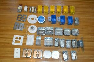 Mixed Lot Electrical Switch box Miscellaneous Components Box Outlets Contractor