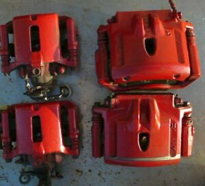00 02 Jaguar S Type Red Brake Calipers With Bracket Front And Rear Complete Set