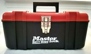 Master Lock Safety Series Portable Electrical Lockout Kit Filled Red Tool Box