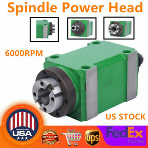 2hp Drilling Spindle Unit Power Head 6000rpm Cnc Cutting Milling Waterproof