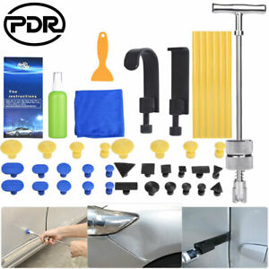 18piece Pdr Dent Puller Tools Paintless Hail Repair Removal Remover Glue Gun Set
