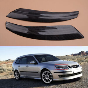 Fit For Saab 9 3 2002 2006 Front Light Headlight Cover Trim Eyebrow Eyelid