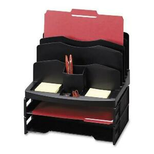 Desk Organizer With Letter Tray Desktop Sparco Smart Solutions Plastic Material