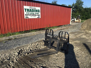2020 New Bobcat 48 4000lb Heavy Duty Quick Attach Forks For Skid Steer Loaders