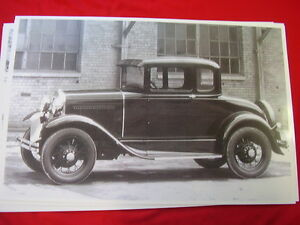 1930 Ford Model A Coupe At Factory 11 X 17 Photo Picture