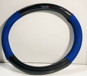 Valleycomfy Steering Wheel Cover Universal 15 Inch Dark Blue And Black