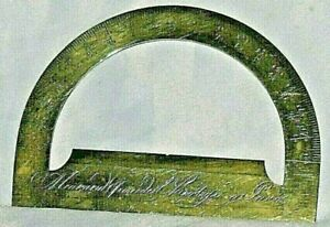Antique Meurand Protractor Paris French Ca 1792 Brass