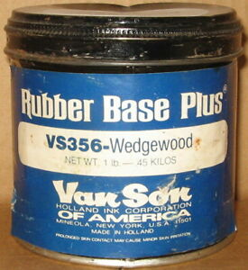 Van Son Printing Ink Vs356 Wedgewood Blue Rubber Base Plus 1 Lb Can