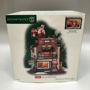 Dept 56 Coca Cola Soda Fountain CHRISTMAS IN THE CITY SERIES #59221