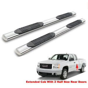 4 Side Step Nerf Bars For 99 18 Silverado sierra Ext double Cab Running Boards