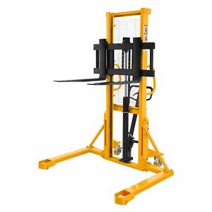 Sovan s Manual Pallet Stacker With Straddle Legs 2200lbs Cap 63 Lift Height