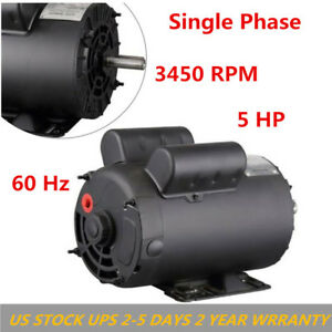 5 Hp Electric Motor Pump Air Compressor 16 Flamps 3450rpm Single Phase Us Stock