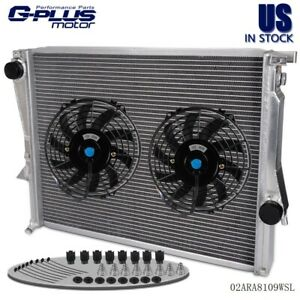 Aluminum Racing Radiator 9 Fan For 98 02 Bmw Z3 M Coupe Roadster E36 3 2l L6